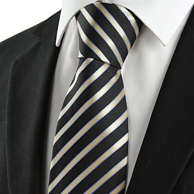 Solmio-Polyesteri,Raidallinen,Musta / Keltainen