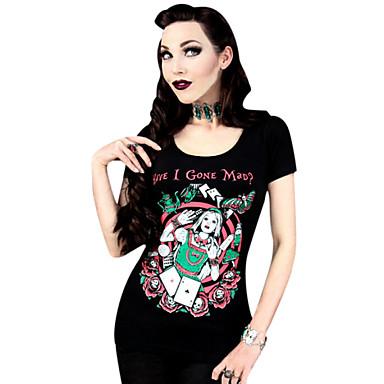 Blusa/Camisa Lolita Clássica e Tradicional Cosplay Vestidos Lolita Estampado Camiseta Para Licra