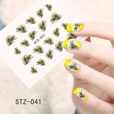 1pcs Neglekunst klistremerke Vannoverføringsklistre Tegneserie Smuk Sminke Kosmetikk Neglekunst Design