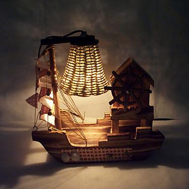 아이를위한 창조적 인 나무 빛 음악 항해 램프 장식 책상 램프 침실 램프 선물