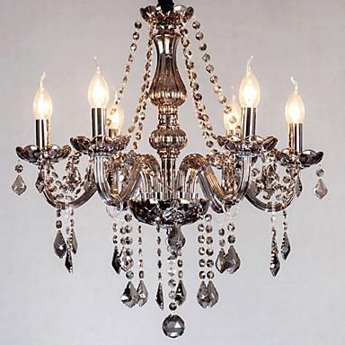 Modern / Contemporary Chandelier Uplight - Crystal, 110-120V 220-240V Bulb Not Included