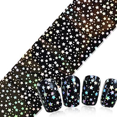 1pcs Glitter Nastro In Lamina Per Unghie Manicure Manicure Pedicure Punk - Di Tendenza Quotidiano - Nastro Stripping A Foglio #04899674 Rinfresco