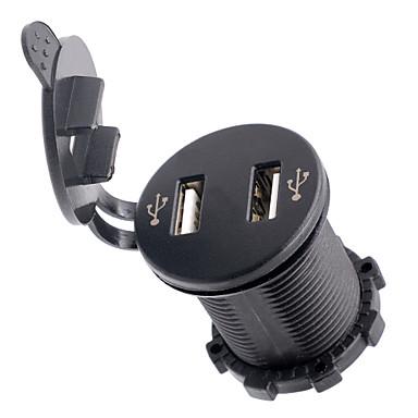 12-24V 4.2a motorsykkel bil dual usb mobiltelefon lader med voltmeter
