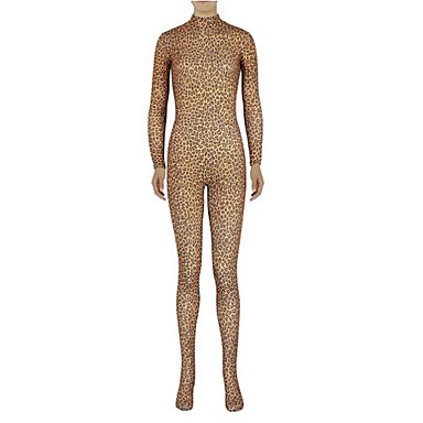 Zentai Anzüge Ninja Zentai Kostüme Cosplay Kostüme Braun Tierfell-Druck Gymnastikanzug/Einteiler Zentai Kostüme Elasthan Lycra Unisex