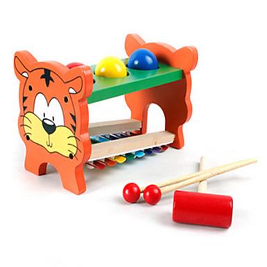 유아를위한 다기능 나무 장난감은 첼레스타에서 음악을 재생 공을 노크합니다
