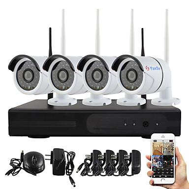 yanse® plug and play langaton NVR kit p2p 960p hd ulkoilma / sisätila ir hämäränäön turvallisuus IP-kamera WiFi CCTV-järjestelmä