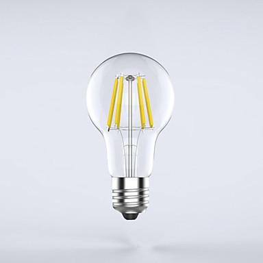 E26/E27 Lâmpadas de Filamento de LED A60(A19) 8 leds COB Impermeável Decorativa Branco Quente 750lm 2700K AC 85-265V