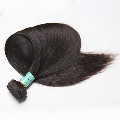 Fekete Egyenes Maláj haj Emberi haj sző Póthajak 0.1kg