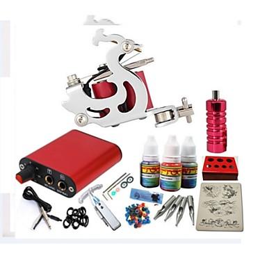 basekey tattoo kit jh551 kone virtalähteellä kahvat 10ml mustetta