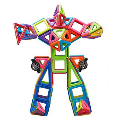 Byggeklosser Magnetisk blokk Magnetisk byggesett Leketøy Moro Plast Klassisk Deler Barne Gave