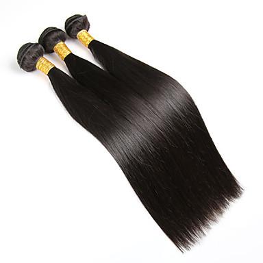Бразильские волосы Прямой Классика Ткет человеческих волос 3 предмета Высокое качество Человека ткет Волосы Повседневные