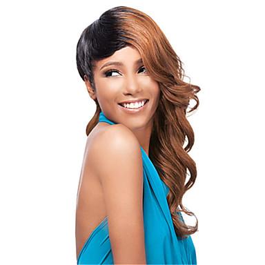 긴 길이 아름다운 머리카락 유럽 직조 혼합 된 색 머리 합성 가발