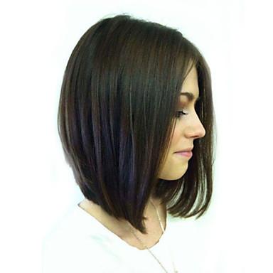 סגנון בוב פאות אדם ישרות קצרות בלי כומתה, שיער מונה בתולת רמי פאת שיער העליון