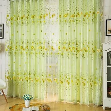 Rypytysnauha One Panel Window Hoito Kantri , Painettu Living Room Polyesteri materiaali Läpinäkyvät verhot Shades Kodinsisustus
