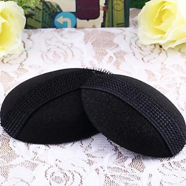 2kpl nainen kauneus tilavuus hiukset pohja kuhmu muotoilutuotteet insert tyynyn työkalu