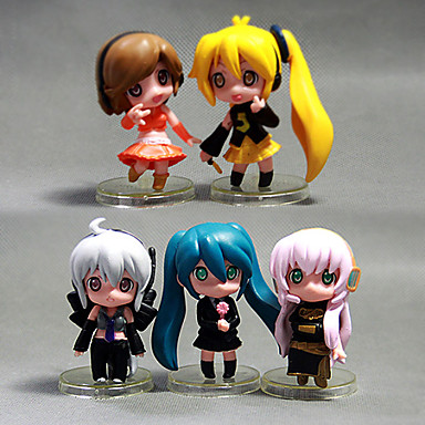 cheap Anime Action Figures-Anime Action Figures Inspired by Cosplay Hatsune Miku PVC(PolyVinyl Chloride) 5 cm CM Model Toys Doll Toy