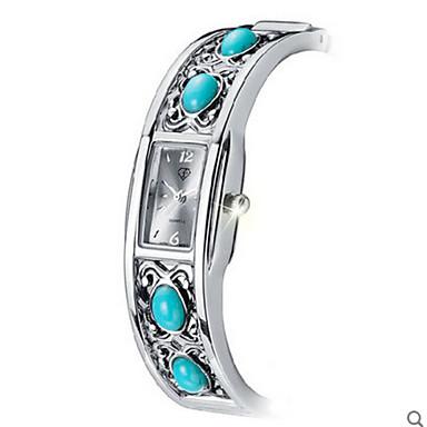 Damen Quartz Armband-Uhr Wasserdicht Edelstahl Band Elegant Modisch Silber