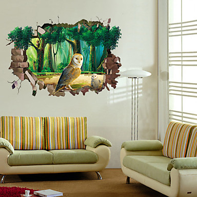 Dekorative Wand Sticker - 3D Wand Sticker Cartoon Design Wohnzimmer / Schlafzimmer / Badezimmer