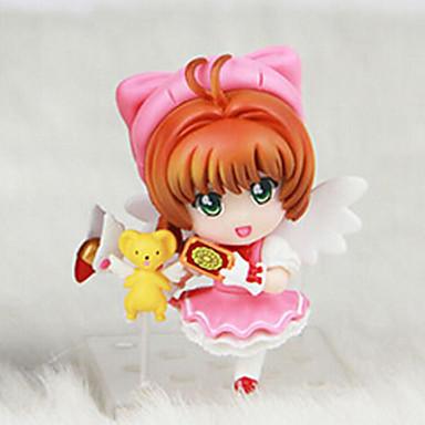 애니메이션 액션 피규어 에서 영감을 받다 카드캡쳐 사쿠라 코스프레 PVC 8 CM 모델 완구 인형 장난감