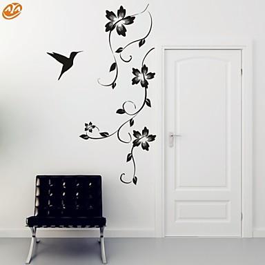 Romantik Mode Blumen Wand-Sticker Flugzeug-Wand Sticker Dekorative Wand Sticker, Vinyl Haus Dekoration Wandtattoo Wand