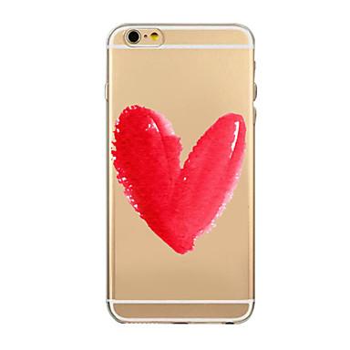 Varten iPhone 6 kotelo iPhone 6 Plus kotelo kotelot kuoret Läpinäkyvä Kuvio Takakuori Etui Piirros Pehmeä TPU varteniPhone 6s Plus iPhone