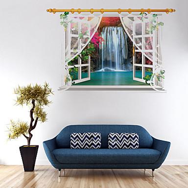 Dekorative Mur Klistermærker - 3D Mur Klistremerker Blomster Stue / Soverom / Spisestue / Kan fjernes