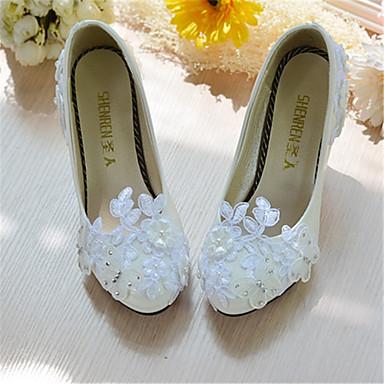 Hvit-Bryllup sko-Dame-Hæler-høye hæler-Bryllup