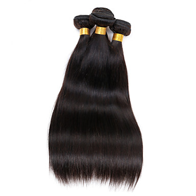 8-26 inch Peruvian Virgin Hair 4pcs/lot 200g Straight Human Hair Weaves Natural Black Peruvian Straight Hair
