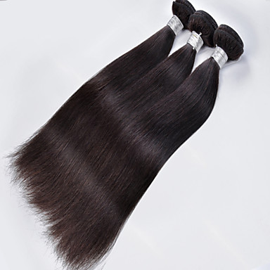1Pcs/Lot Brazilian Virgin Hair Straight Hair Nautral Black 100% Human Hair Unprocessed Human Hair Weaves