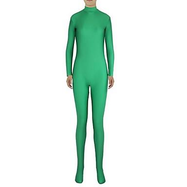 Ternos Zentai Ninja Fantasia Zentai Fantasias de Cosplay Verde Sólido Collant / Pijama Macacão Fantasia Zentai Elastano Licra Homens