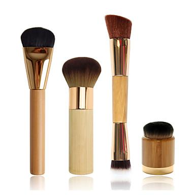 lapos alapja ecsettel + airbrush kivitelben bambusz ecset + dupla végű kontúrszabályozás kefe + airbuki púder ecset