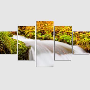 Canvastaulu Maisema Moderni 5 paneeli Neliö Wall Decor Kodinsisustus