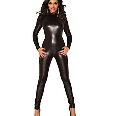 동물 더 많은 의상 코스프레 코스츔 여성용 카니발 새해 페스티발 / 홀리데이 할로윈 의상 블랙 솔리드 섹시 유니폼 더 유니폼