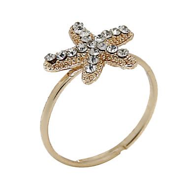 בגדי ריקוד גברים נשים טבעות הצהרה תכשיטי יוקרה יהלום מדומה סגסוגת תכשיטים עבור Party יומי קזו'אל