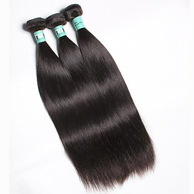 Малазийские волосы Прямой Ткет человеческих волос 3шт Мягкость Высокое качество Человека ткет Волосы Работа/Свадьба Повседневные