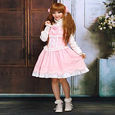 달콤한 로리타 프린세스 레이스 여성용 드레스 코스프레 민소매 짧은 길이