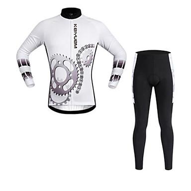 KEIYUEM Pyöräily jersey ja trikoot Unisex Pitkä hiha Pyörä VaatesetitVedenkestävä Nopea kuivuminen Tuulenkestävä Eristetty Sateen kestävä