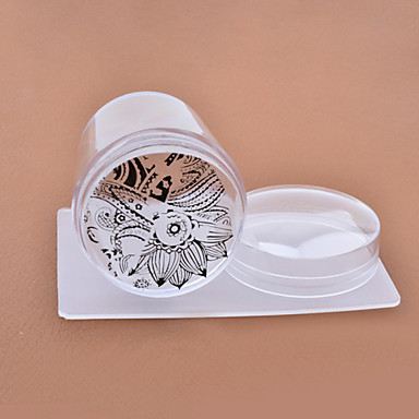 Outras Decorações-Abstracto / Adorável- paraDedo- dePlástico- com1set nail stamper and scraper-4cm for the head- (cm)
