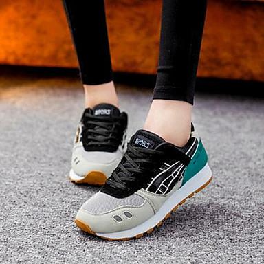 נעלי נשים-סניקרס אופנתיים-קנבס-נוחות-כחול / לבן / אפור-שטח / קז'ואל / ספורט-עקב שטוח
