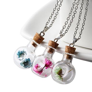נשים שרשראות תליון זכוכית אופנתי תכשיטים עבור יומי קזו'אל