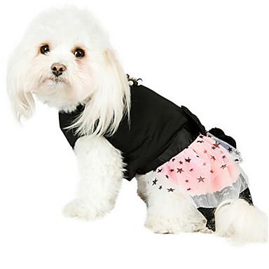 Cães Vestidos Preto Roupas para Cães Inverno / Verão / Primavera/Outono Estrelas / Pérola Da Moda
