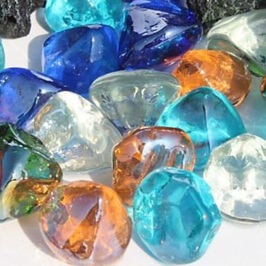 קישוט אקווריום אבנים זכוכית