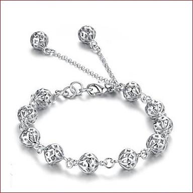 צמידים שרשרת וצמידים מצופה כסף חתונה תכשיטים מתנות כסף,1pc