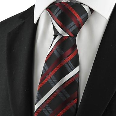 עניבה-פסים(שחור / כחול / אדום,פוליאסטר)
