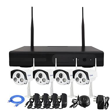 yanse® langaton NVR kit 960p HD ir hämäränäön turvallisuus IP-kamera WiFi CCTV järjestelmä (plug and play, täytyy asettaa) p2p