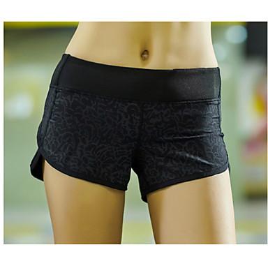 Mulheres Shorts de Corrida Esportes Moderno Calças Ioga, Pilates, Exercício e Atividade Física Roupas Esportivas Secagem Rápida, Respirável, Compressão Com Stretch / Redutor de Suor