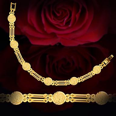 Damen Ketten- & Glieder-Armbänder - vergoldet Einzigartiges Design, Modisch Armbänder Gold Für Hochzeit Party Alltag