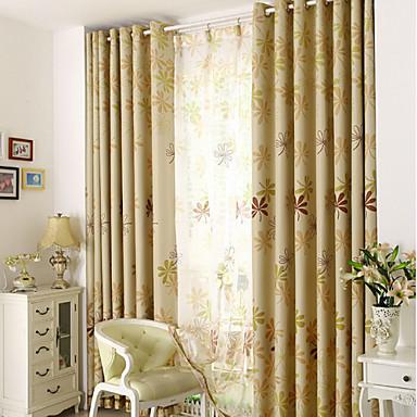 Purjerengas Kynälaskostettu 2 paneeli Window Hoito Moderni Living Room Polyesteri materiaali Pimennysvuoritus Drapes Kodinsisustus For