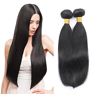 זול תוספות משיער אנושי-3 חבילות שיער מלזי ישר 8A שיער אנושי טווה שיער אדם שוזרת שיער אנושי תוספות שיער אדם