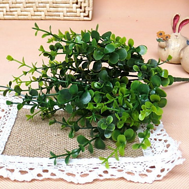 1kpl 7fork / haara eukalyptus fake kasvi sisustustekniikan kasvi
